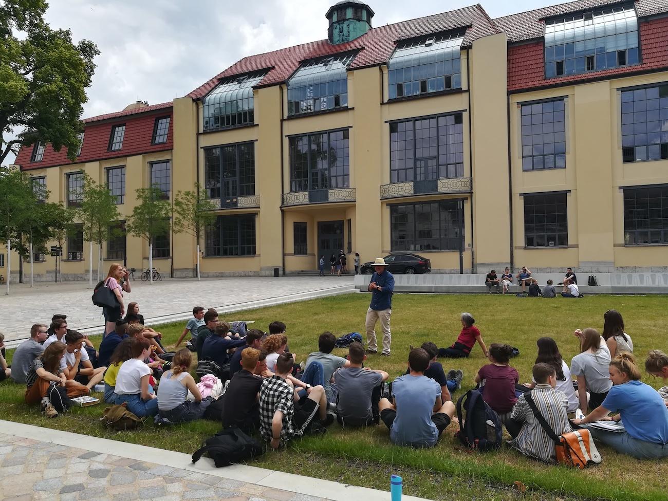 Klassen 11 in Weimar am Bauhaus