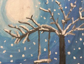 Hurra es hat geschneit. Kreative Grüße aus dem Homeschooling