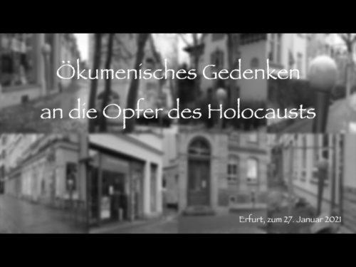 Ökumenische Feierstunde zum Holocaust-Gedenken