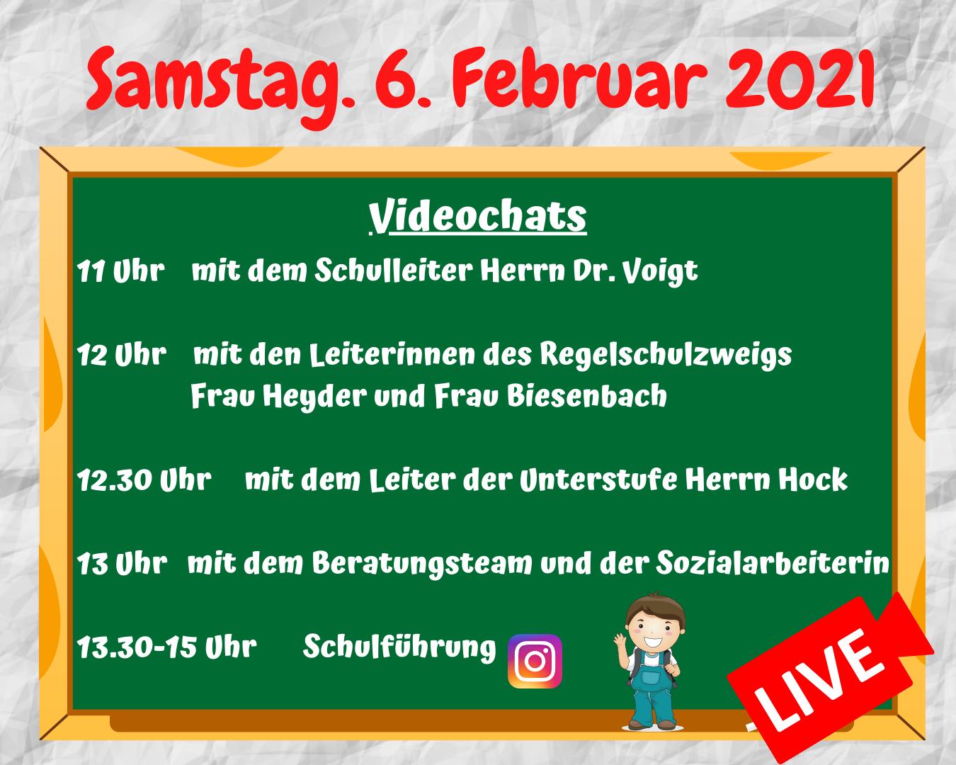 Digitaler Tag der offenen Tür – Live Informationen!